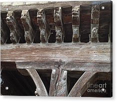 Medieval Market Place  Acrylic Print by France  Art