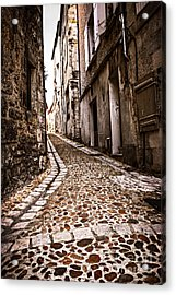 Medieval Street In France Acrylic Print