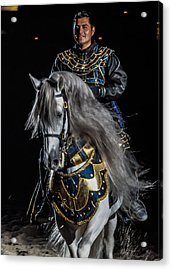 Medieval Times Knight And Horse Acrylic Print by Gene Sherrill