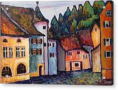 Medieval Village Of St. Ursanne Switzerland Acrylic Print