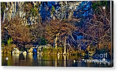 Medina River At Comanche Cliffs Acrylic Print