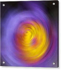 Meditation - Abstract Energy Art By Sharon Cummings Acrylic Print by Sharon Cummings