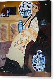 Acrylic Print featuring the painting Meditation by Aleezah Selinger