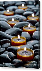 Meditation Candles Acrylic Print