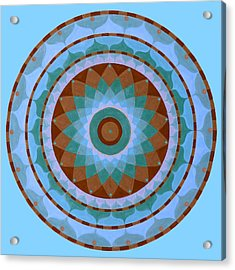 Meditation Mandala Acrylic Print by Vlatka Kelc