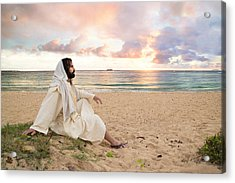 Meditation Of Christ Acrylic Print by Lois Colton