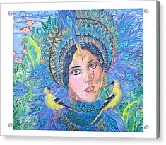 Acrylic Print featuring the painting Meditation by Suzanne Silvir