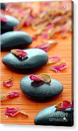 Meditation Zen Path Acrylic Print by Olivier Le Queinec