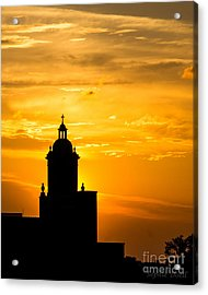 Meditative Sunset Acrylic Print