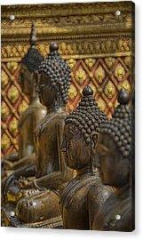 Meditators Acrylic Print by Karen Walzer