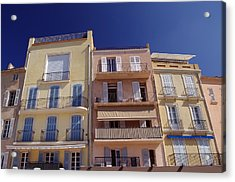 Mediterranean Coastline Appartments Acrylic Print by Ioan Panaite