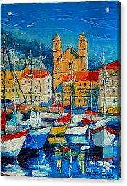 Mediterranean Harbor Acrylic Print
