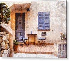 Mediterranean House Acrylic Print by Pixel  Chimp