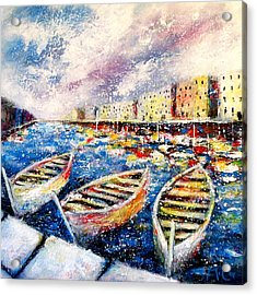 Mediterranean Port Colours Acrylic Print
