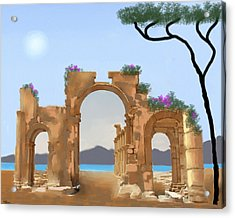 Mediterranean Ruins Acrylic Print