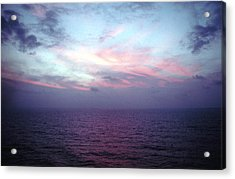 Mediterranen Sunset Acrylic Print by Tom Wurl