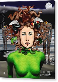 Medusa Acrylic Print by Keith Dillon
