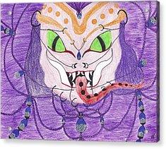 Medusa Acrylic Print by Random Merlin Ellis