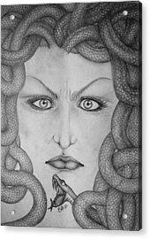 Medusa Acrylic Print by  Silvia Mariottini