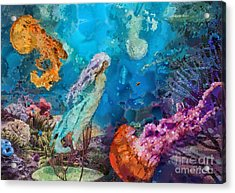 Medusa's Garden Acrylic Print by Mo T