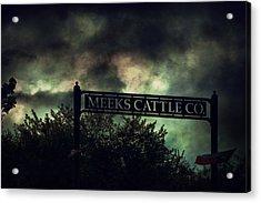 Meeks Cattle Acrylic Print
