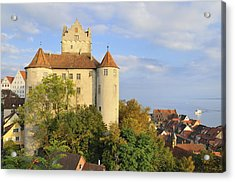 Meersburg Castle And Town Germany Acrylic Print by Matthias Hauser