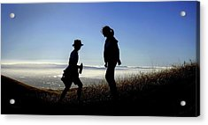 Acrylic Print featuring the photograph Meet At The Top Of The World by Peter Thoeny