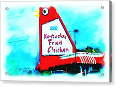 Acrylic Print featuring the painting Meet Me At The Big Chicken by Ted Azriel