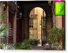 Meet Me For Coffee In The Courtyard Acrylic Print by Rene Triay Photography