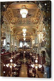 Meet Me For Coffee - New York Cafe - Budapest Acrylic Print by Lucinda Walter