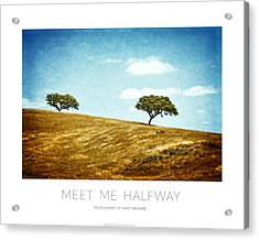 Meet Me Halfway - Poster Acrylic Print by Mary Machare
