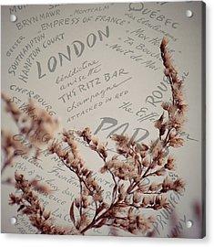 Meet Me In Paris Acrylic Print