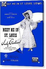 Meet Me In St Louis Louis Acrylic Print