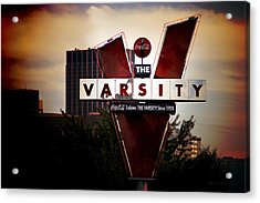 Meeting At The Varsity - Atlanta Icons Acrylic Print by Mark E Tisdale