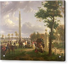Meeting Between Napoleon I And Pope Pius Vii Acrylic Print by Alexandre Hyacinthe Dunouy