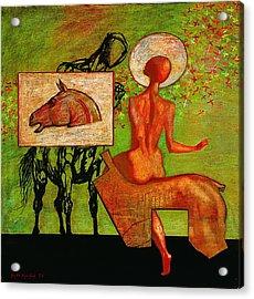 Meeting Acrylic Print by Karen Aghamyan