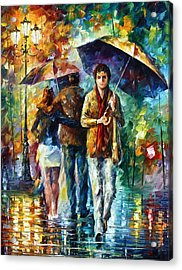 Meeting My Ex Acrylic Print by Leonid Afremov