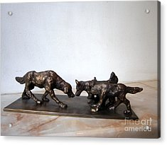 Meeting Of The Dogs Acrylic Print by Nikola Litchkov