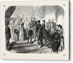 Meeting Of The French And Spanish Royal Families Acrylic Print