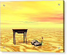 Meeting On Plain - Surrealism Acrylic Print by Sipo Liimatainen