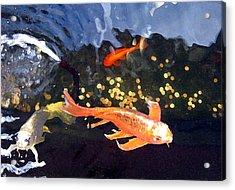 Meetings On The Riverbank Acrylic Print by Patricia Januszkiewicz