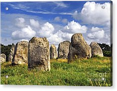 Megalithic Monuments In Brittany Acrylic Print by Elena Elisseeva