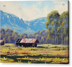 Megalong Valley Shed Acrylic Print by Graham Gercken