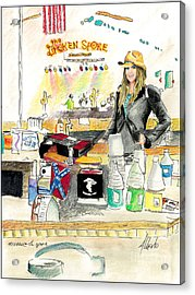 Meghan At The Broken Spoke Saloon Acrylic Print