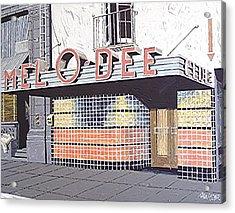 Mel O Dee Club Acrylic Print by Paul Guyer