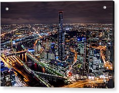 Melbourne At Night IIi Acrylic Print