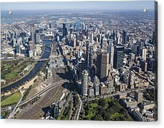 Melbourne From The South East Corner Acrylic Print