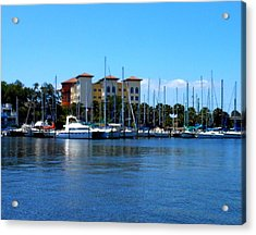 Melbourne Harbor Acrylic Print by Kay Gilley
