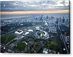 Melbourne Park, Melbourne Acrylic Print