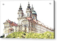 Melk Abbey In Lower Austria Acrylic Print